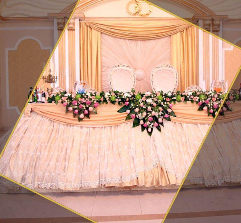 Текстильное оформление банкетных залов, ресторанов, гостиниц